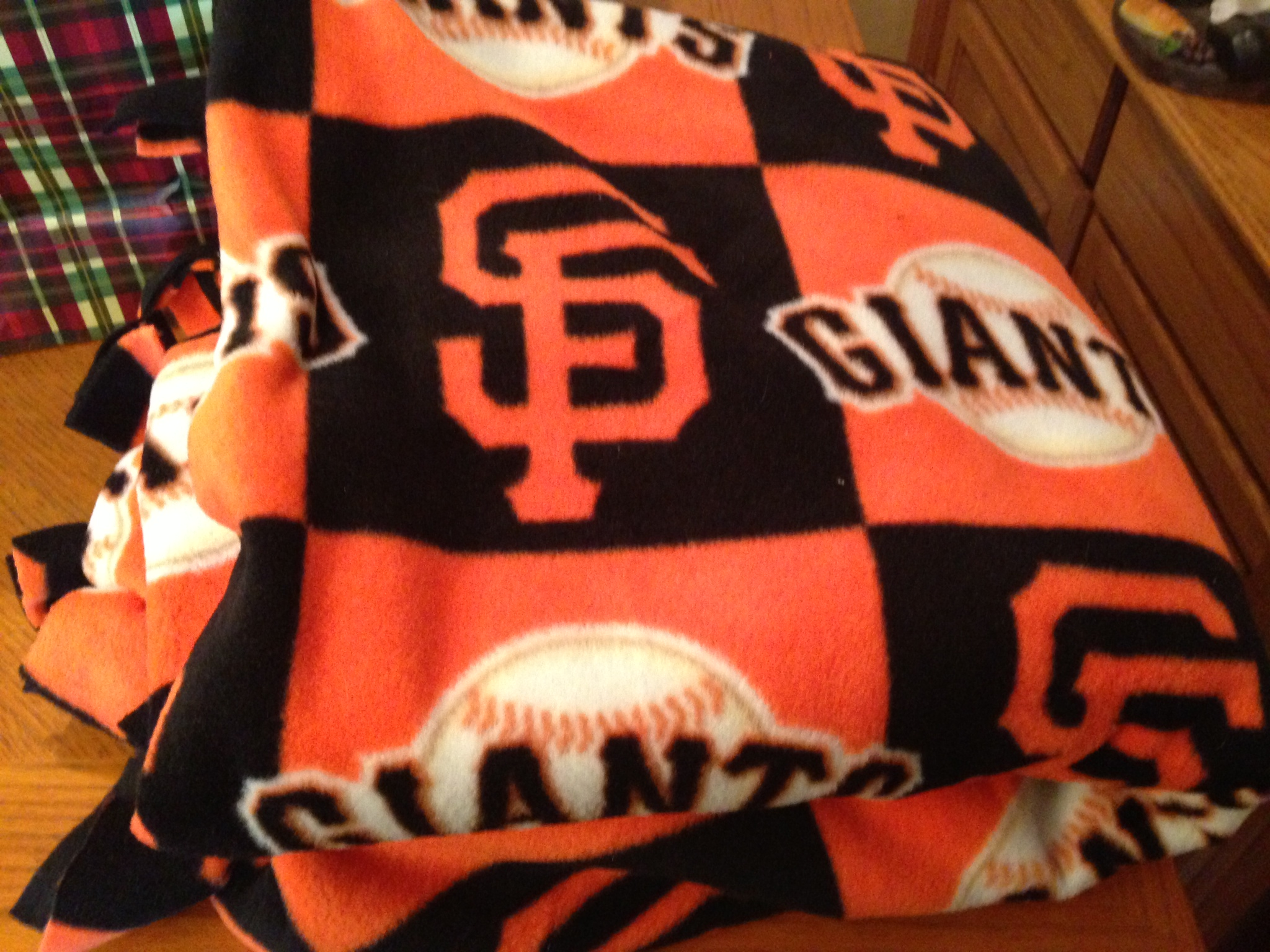 Thank you to Annyssa and Myrna Morales for the SF Giants Blanket Donation!