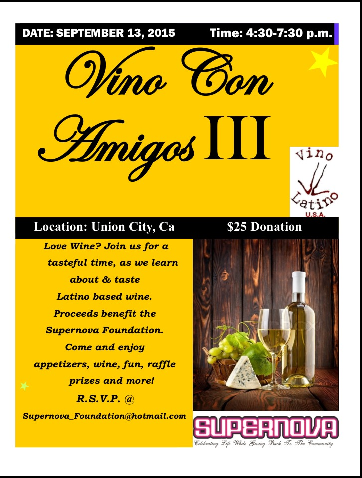 Vino With Amigos III ! The fundraising for 2015 kicks off!