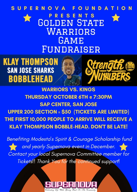 GOLDEN STATE WARRIORS FUNDRAISER- SOLD OUT!