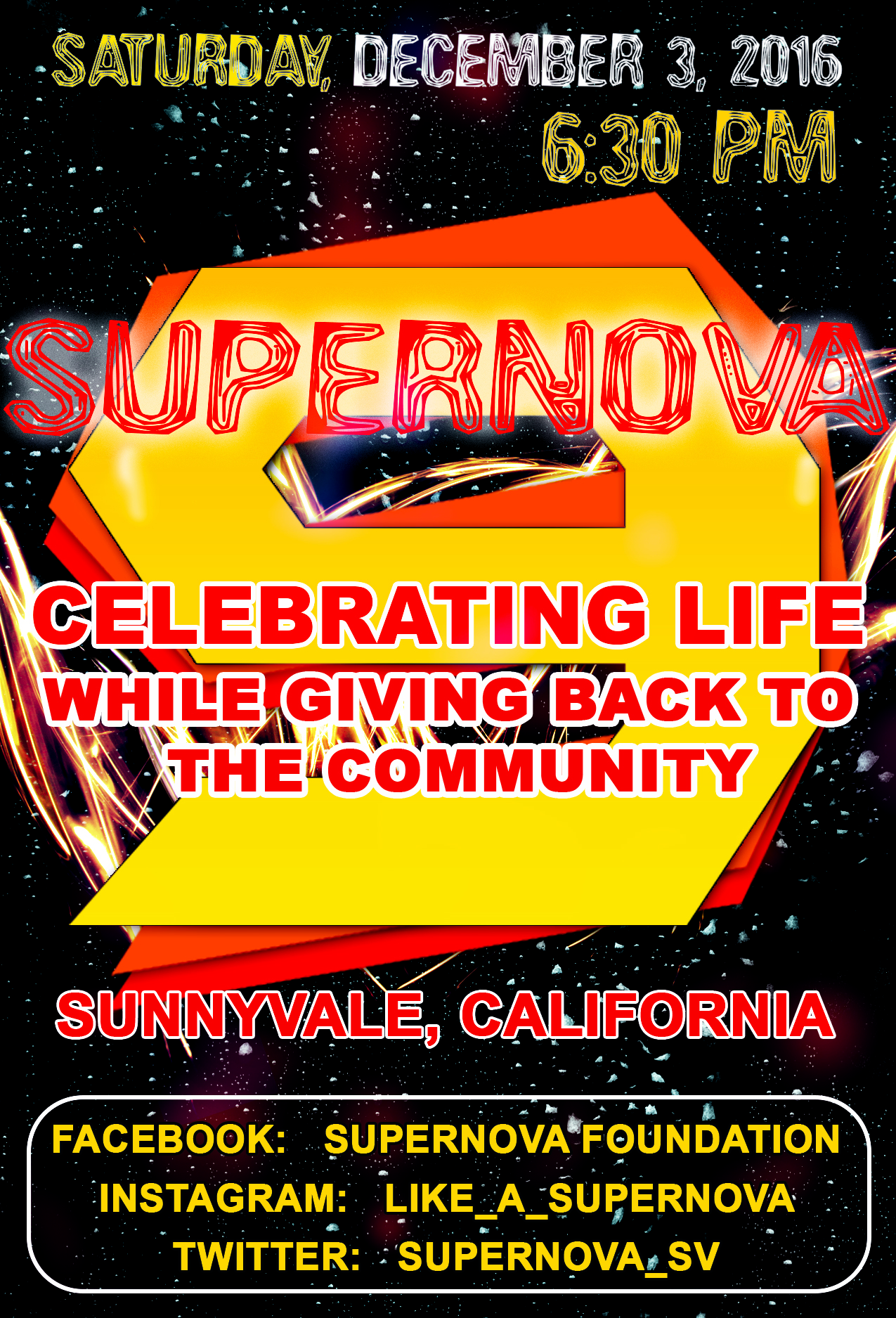 Supernova 9- Save The Date!!! Sunnyvale, California!