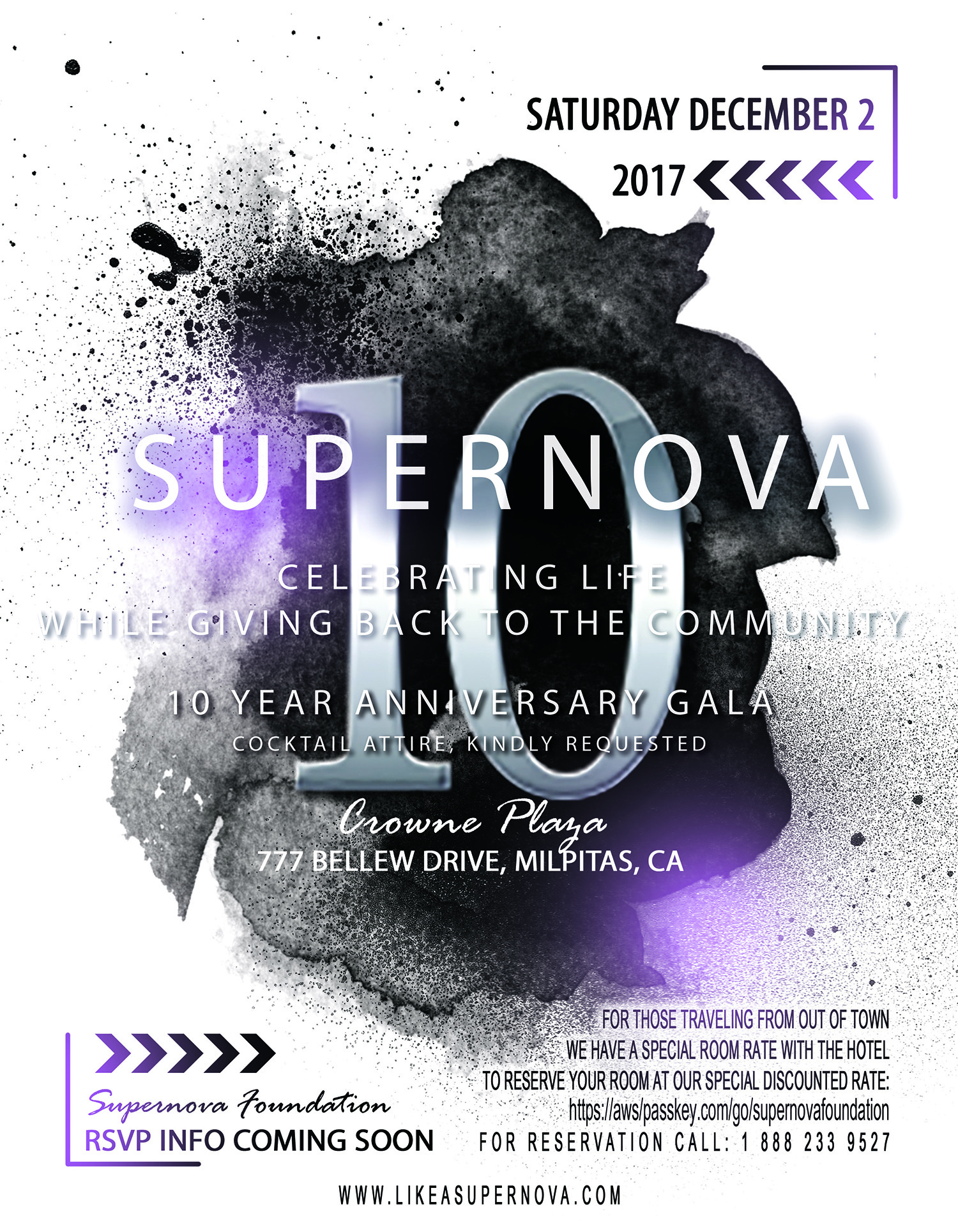 Get your tickets to Supernova 10 NOW! Only $25 for dinner + Event (Early Bird)!