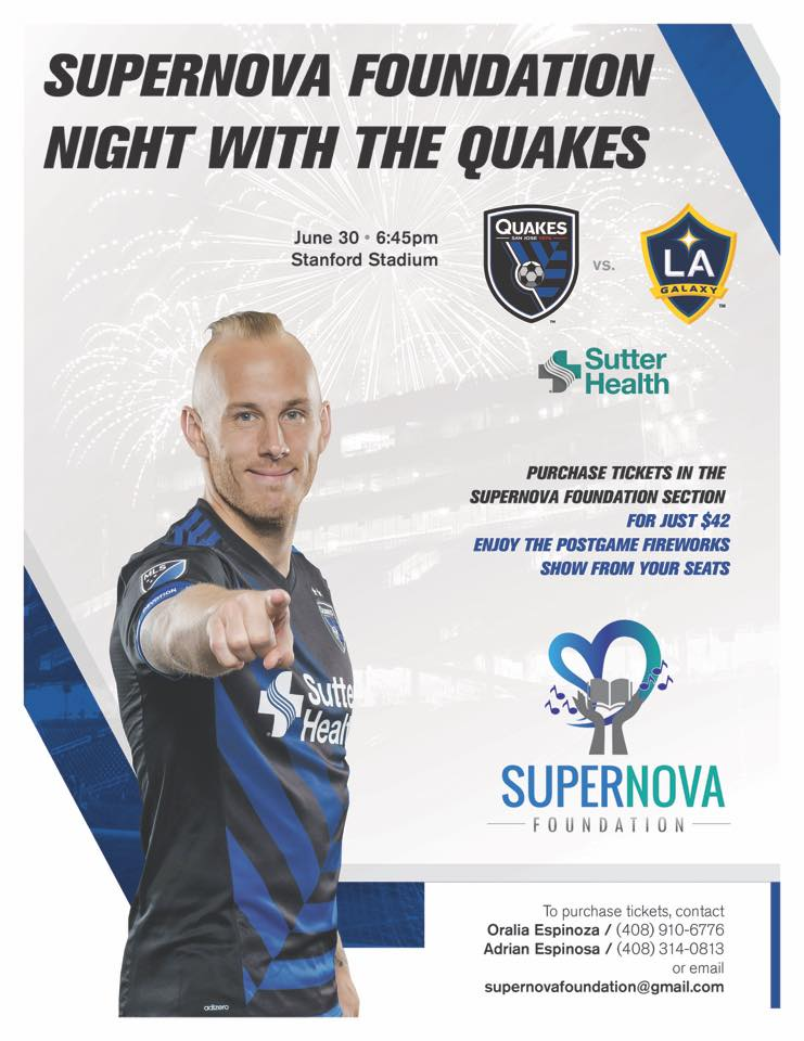Supernova Foundation night with the Quakes